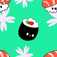 Sushi Pattern by artsyfartsyness