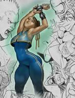 Drawing 1 + Color, Chun Li by SuperMethod
