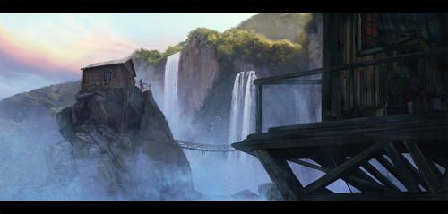 Waterfalls valley by Safarzade