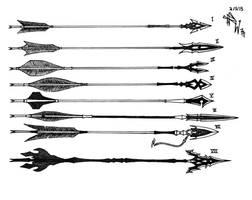 Commission Weapon Desigm: Custom Arrows by RedW0lf777sg