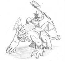 Vorgan Dragon Rider by DWestmoore