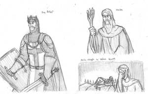 King Arthur Doodles by DWestmoore