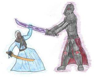 Okami Talon vs the Stormblade by DWestmoore