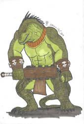 Lizard Man Warrior by DWestmoore