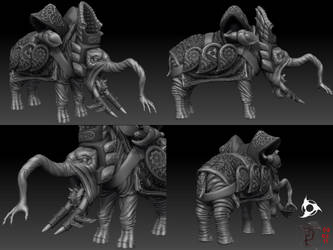 DW V - mount - final sculpt by DeckardX08