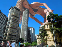 Nina Agdal - Applying sunscreen by Natkatsz