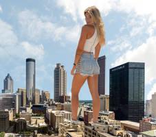 Samantha Hoopes - Downtown Atlanta by Natkatsz