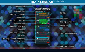 Rainlendar: Nice+Flat Skin Concept by JpotatoTL2D