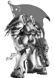Black Tiger Power Armor by MarkCDudley