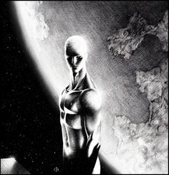 Silver surfer in space by Emmanuel-B
