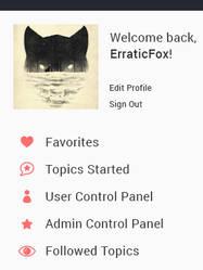 Minimal Sidebar by Erratic-Fox