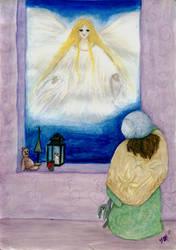 Christmas card: Angel by Ahrn