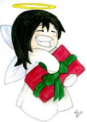 Christmas card: Ellie-Chan by Ahrn