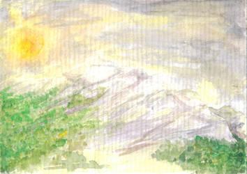 mountainsun by Ahrn