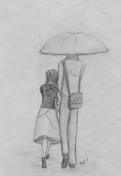 Us in the Grey Rain by Ahrn
