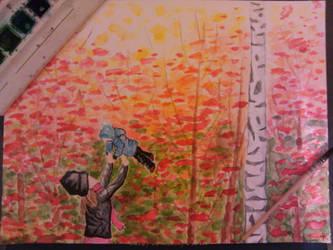 Walking Down an Autumn Road... by paulimorph