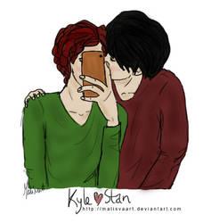 Kiss - Kyle x Stan by malisvaart