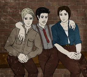 Break Time - Steve, Howard and Bucky by malisvaart