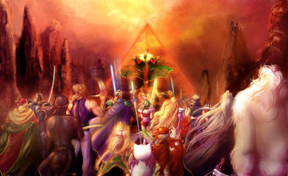Ecard FFVI: Everybody VS Kefka by Tidi-Lebre
