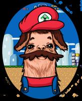 Mario Llama by thecatsmewz