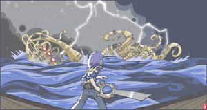 Zach and the Coda Kraken by nichangell