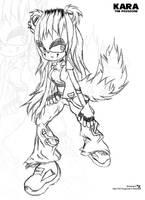 Kara The Foxgoose : RQ Sketch by FreakyEd