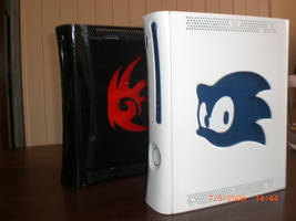 Sonic and shadow modded 360s by EGGMAN-X