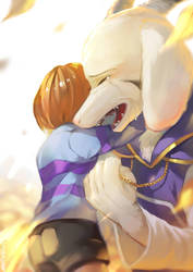 Undertale- Stay here, with me by christon-clivef