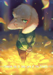 Undertale- Someone has to take care of the flowers by christon-clivef