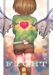 Undertale- Fight by christon-clivef