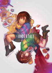 UT- Frisk and Chara by christon-clivef