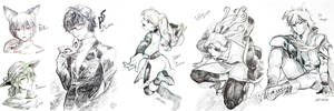 Sketchy drawings by christon-clivef