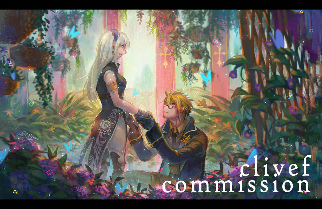 Commission- Flower Garden by christon-clivef