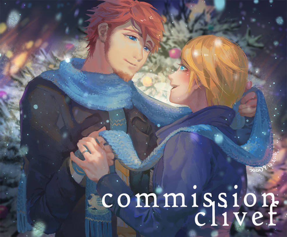 Commission- Arlo and Noah in Christmas by christon-clivef