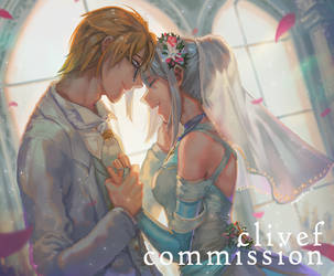 Commission- Sierra wedding day by christon-clivef