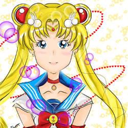 2nd Digital: Sailor Moon by YuukiCross5