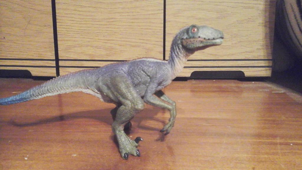 Blue Papo Velociraptor by Growlie26