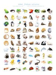 Animal Stickers by lilythescorpio