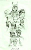 BatFam Sketch by BMendoza22