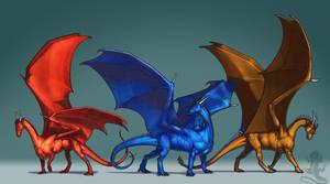 Three Dragons by KaiserFlames