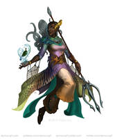 Paizo - Cleric of the Wave by KaiserFlames