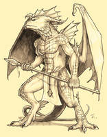 Humanoid Dragon-Char. Redesign by KaiserFlames
