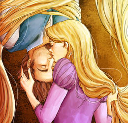 Rapunzel and flynn by DramaQueen14
