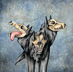 Cerberus - Awkward Hades by xxsensi