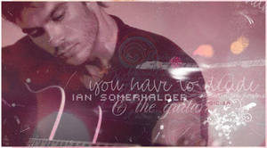 Ian and the guitar by AnetteSomerhalder