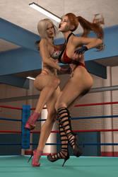 Bitch hits hard!! by Roxyfighter