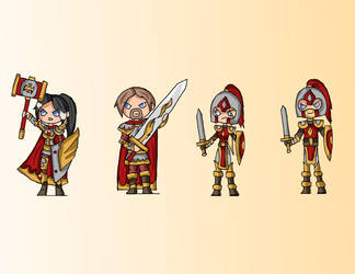 Champions of Avlion - Human Paladins and Soldiers by Eledrath