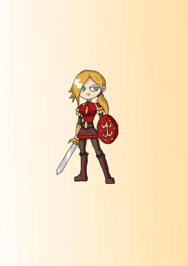 Female Knight by Eledrath