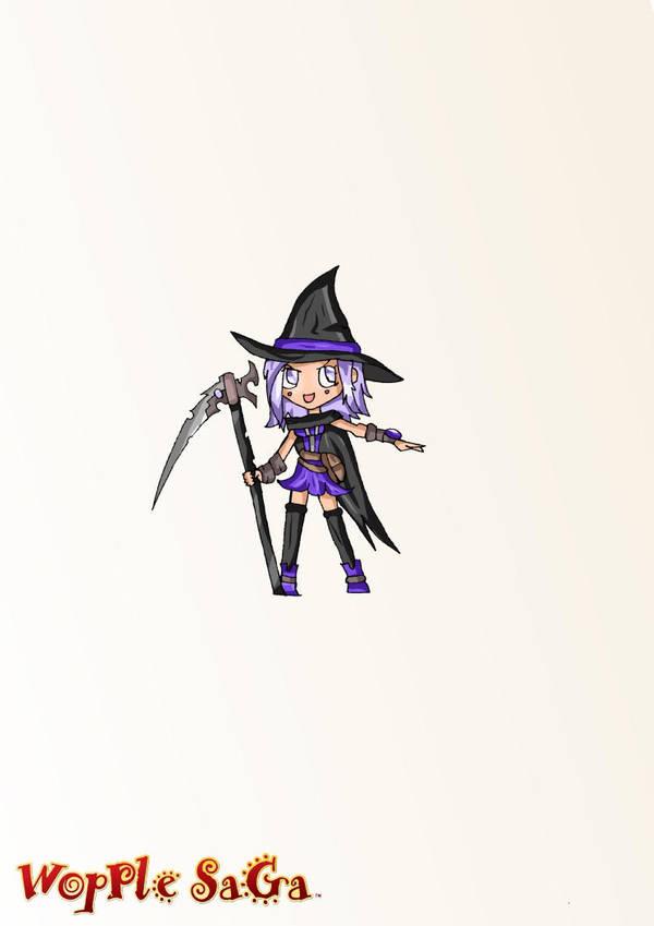 Warplock Girl - Scythe-wielding witch! by Eledrath