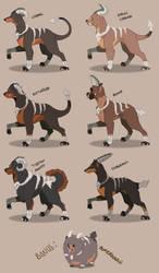 Houndoom Breeds by GrolderArts